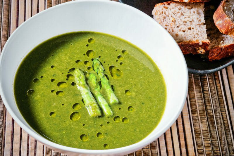asparagus-spinach-soup