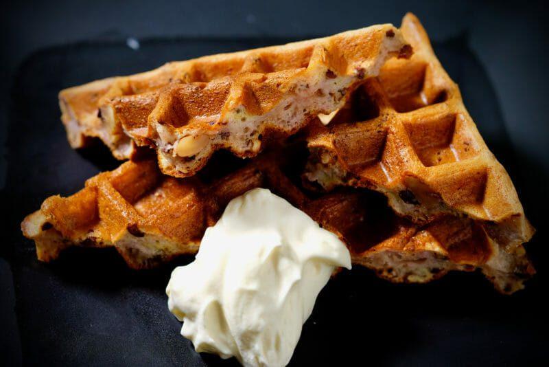 banana-walnut-cacao-sourdough-waffles