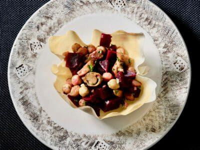 beet-chickpea-mushroom-salad