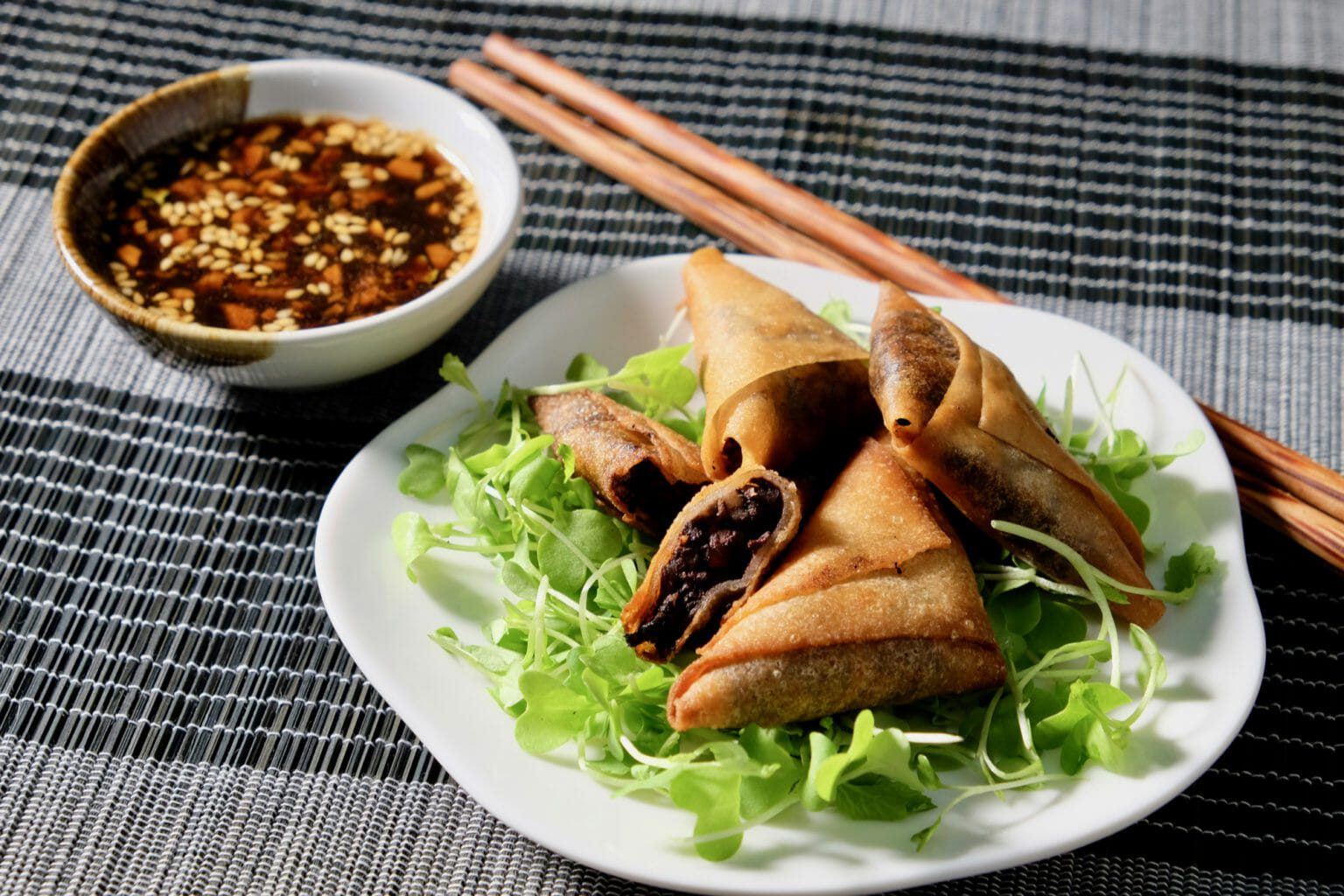 black-pudding-apple-parcels-ginger-garlic-dipping-sauce