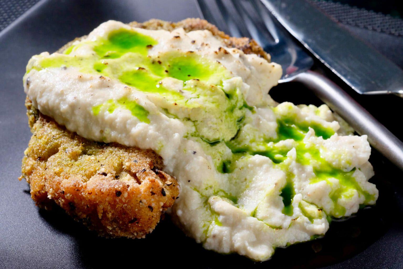 panko-cauliflower-ricotta-cauliflower-puree