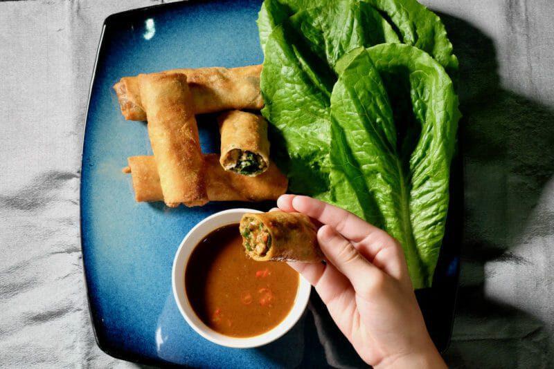 Duck and herb spring rolls. Very special dipping sauce. Appetiser Featured-Recipes Inspired by the flavors of Asia Lunch Main Course Sous Vide Tapas