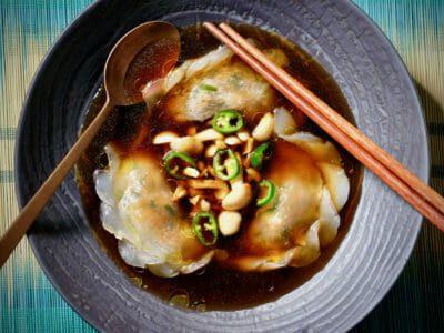duck-dumplings-mushroom-bacon-consomme