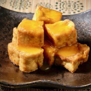 egg-yolk-sauce-on-crispy-tofu