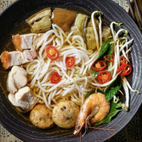 Fermented fish consommé (Bún mắm trong suốt) Breakfast Featured-Recipes Inspired by the flavors of Asia Lunch Main Course Soup