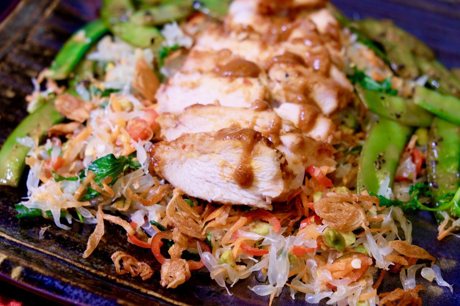 miso-ginger-chicken-pomelo-salad