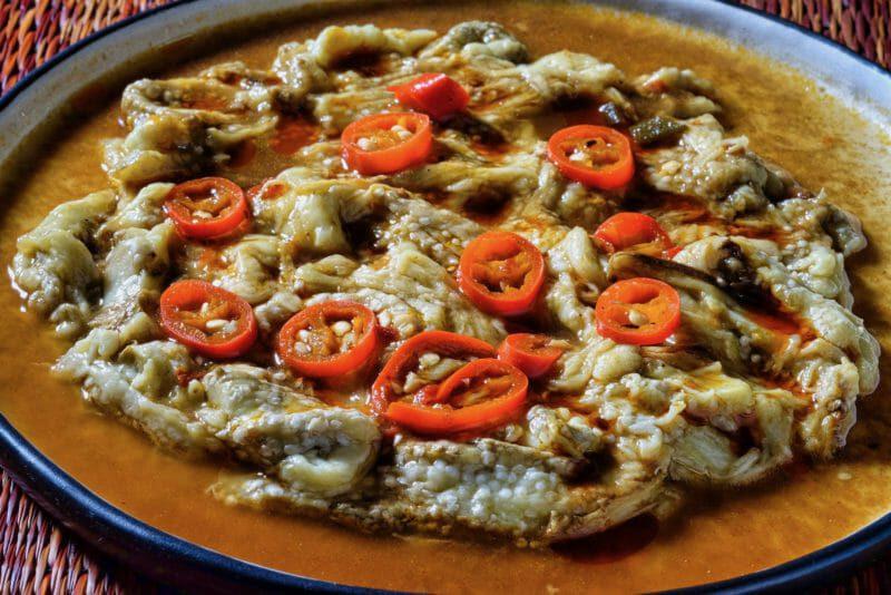 grilled-eggplant-mala-sauce