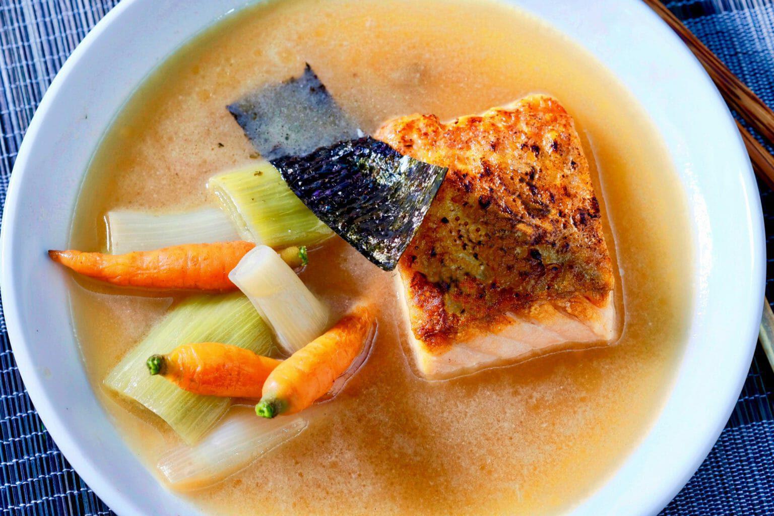 salmon-poached-in-miso-dashi