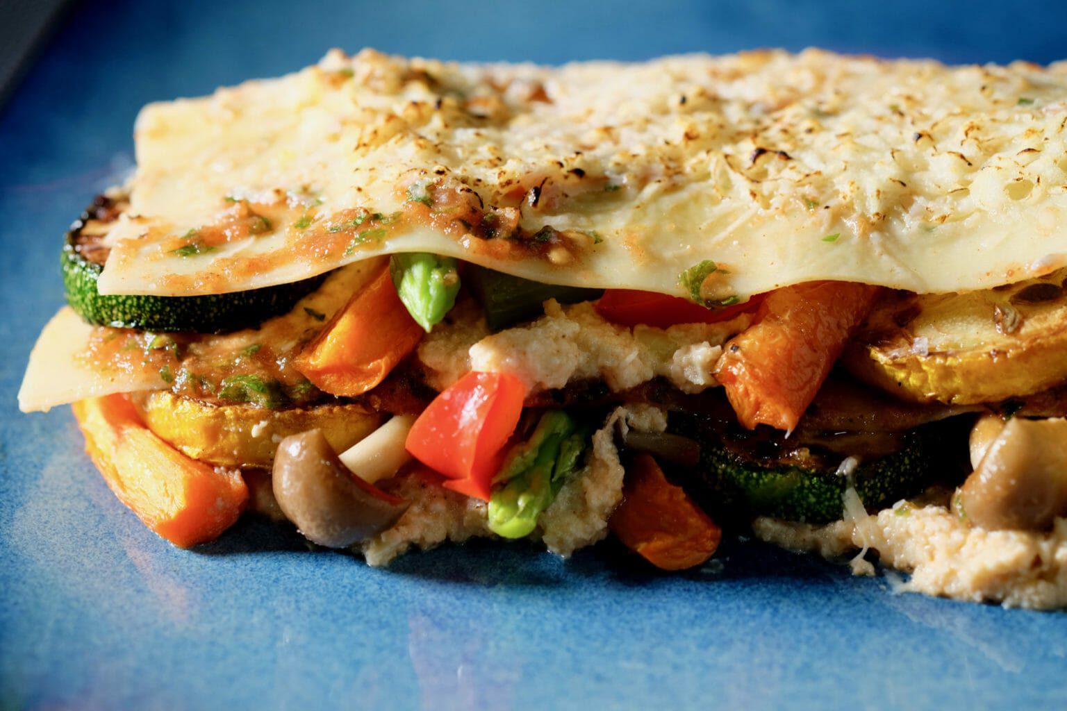 vegetarian-roasted-vegetable-mini-lasagna