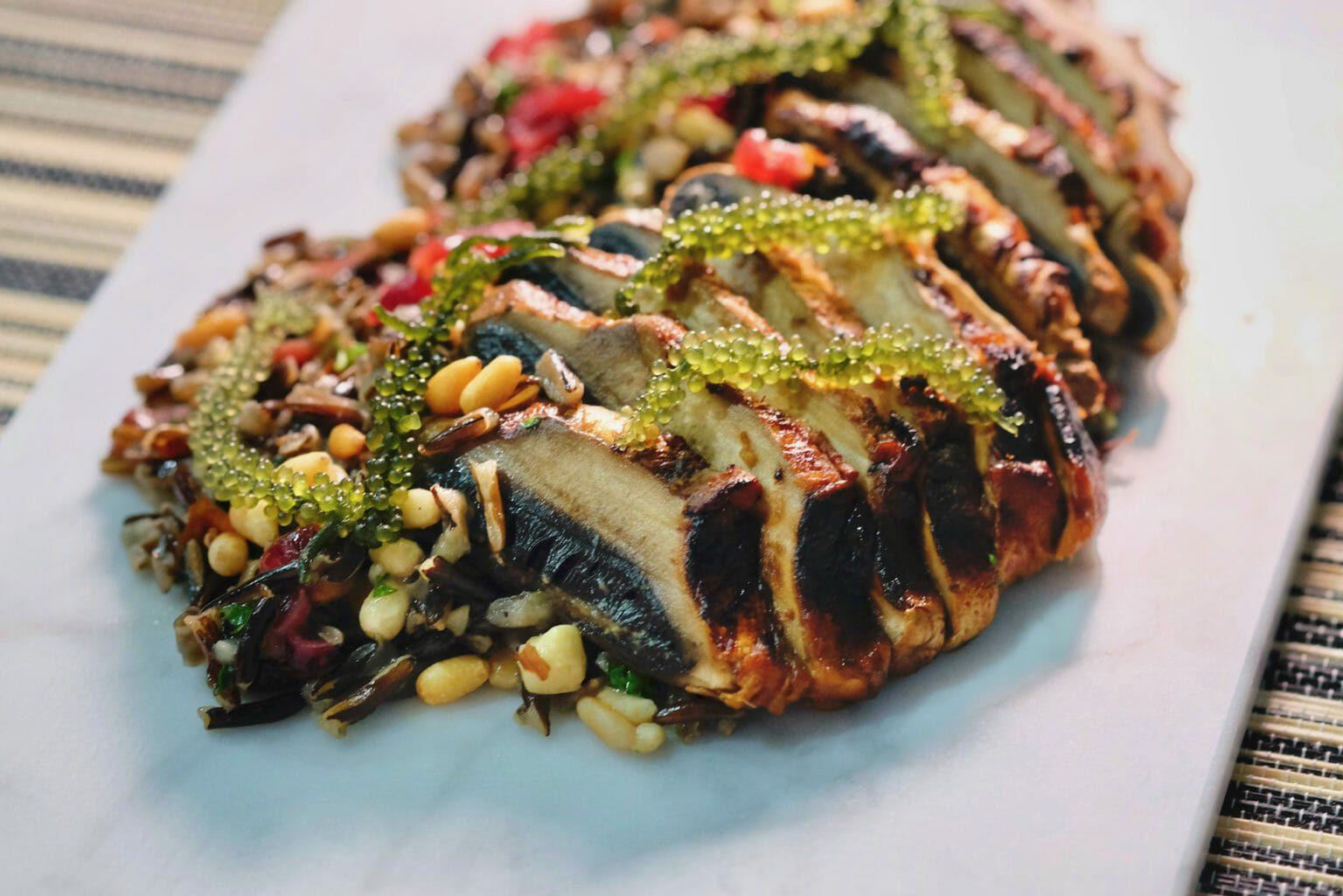 miso-glazed-portobello-mushroom