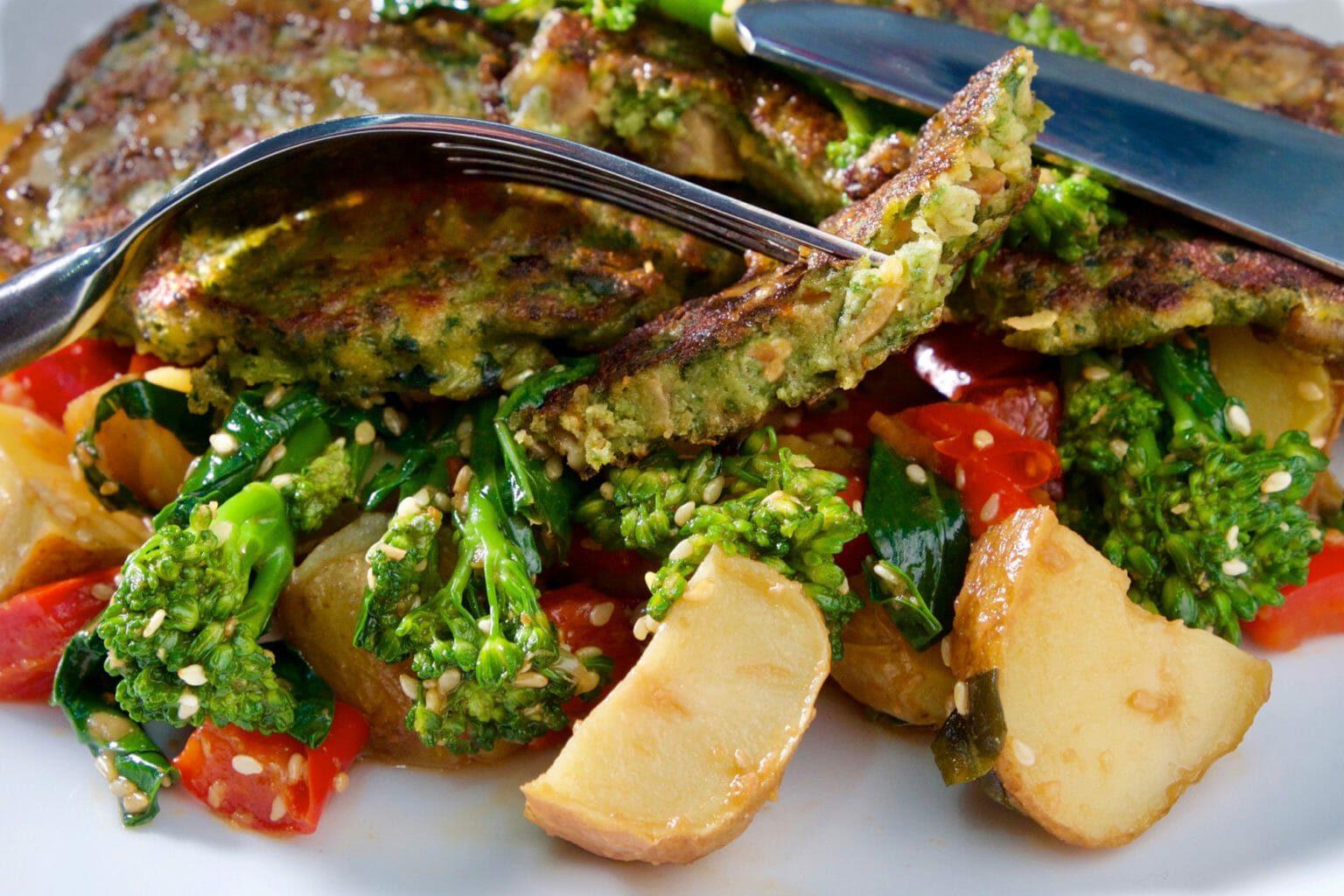 mussel-fritters-asian-potato-salad
