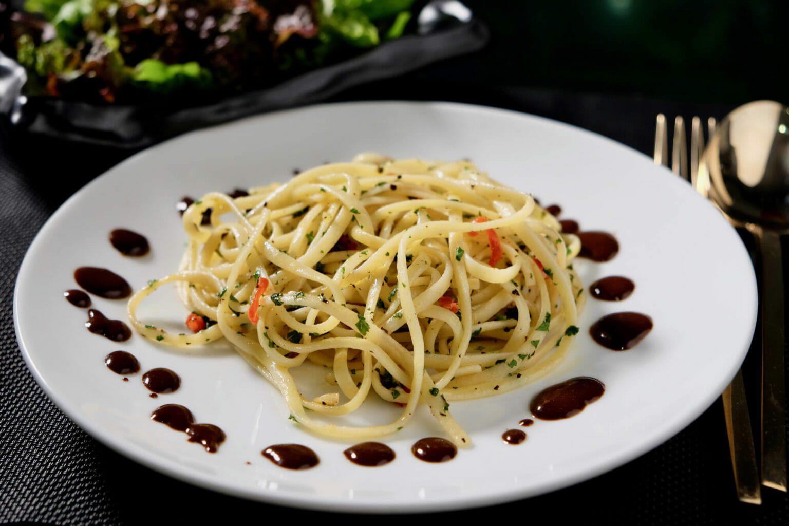 pasta-anchovies-garlic-black-garlic-balsamic-drizzle