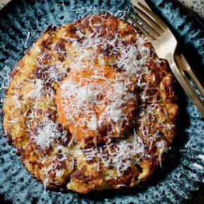 potato-risotto-al-salto-roasted-tomato-sauce