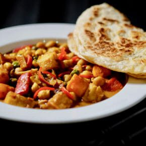Roast vegetable and chickpea curry, Vietnamese style Featured-Vegetarian Inspired by the flavors of Asia Main Course Vegetarian