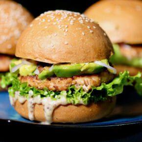 salmon-avocado-burger-honey-mustard-mayo