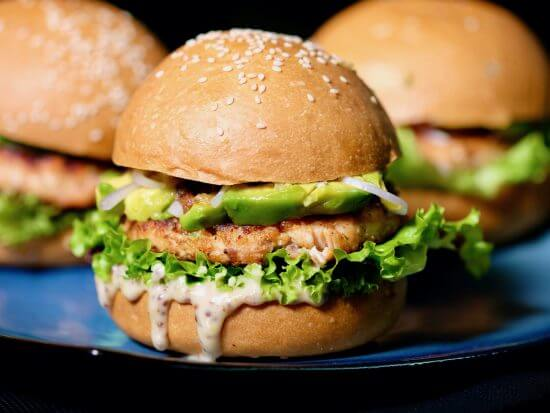 salmon-avocado-burger-honey-mustard-mayo
