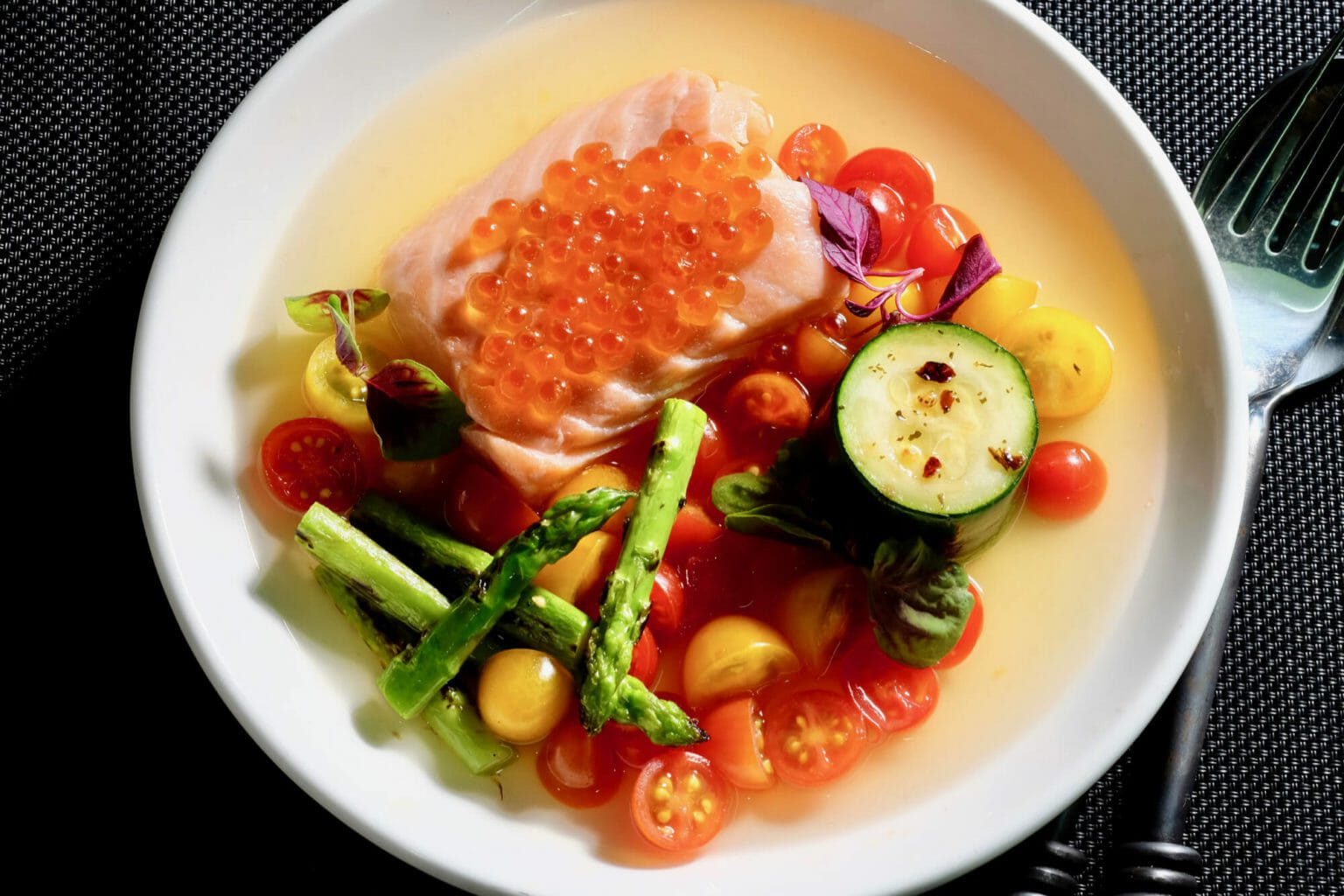 sous-vide-salmon-confit-tomato-consomme