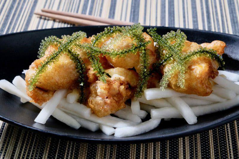 fried-mussels-vietnamese-pickled-daikon
